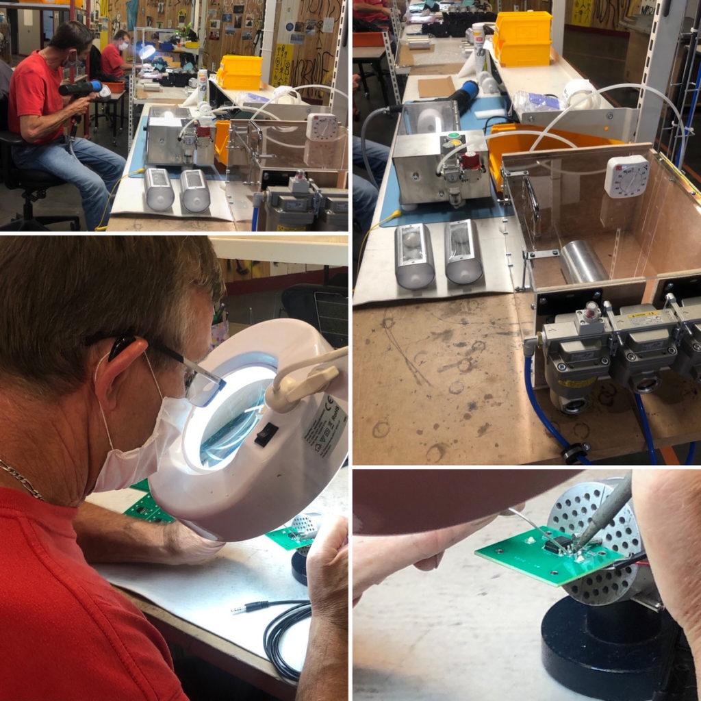 Atelier d'assemblage d'équipements complexes